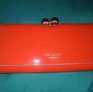 Ted Baker Bobble Orange Patent Leather Wallet